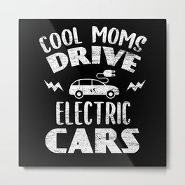Electric Car Mom Metal Print