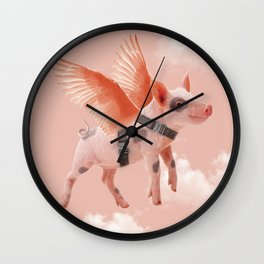 Little Piggy can Fly II Wall Clock