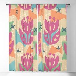 Mid Century Modern Butterfly Garden 202 Blackout Curtain