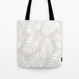 Tropical Palm Leaves - Sand Tote Bag