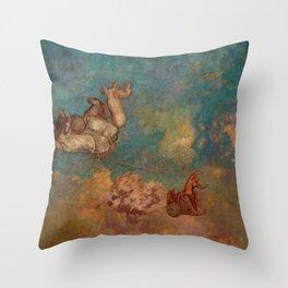 """Odilon Redon """"The Chariot of Apollo"""" Throw Pillow"""