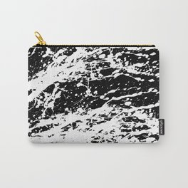 Black and White Paint Splatter Carry-All Pouch