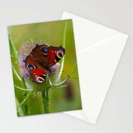 Peacock Butterfly on a Teasel Flower 4 Stationery Cards