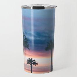 Beautiful Palm Tree Sunset Travel Mug