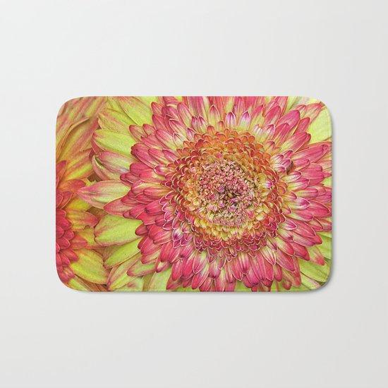 Flower yallow pink Bath Mat