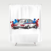 bmw Shower Curtains featuring BMW 2002 by Claeys Jelle Automotive Artwork