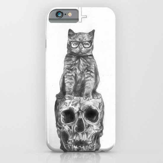 The Cat, The Skull, The Cross iPhone & iPod Case
