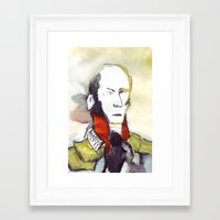 lawyer Framed Art Prints featuring the lawyer man by seb mcnulty