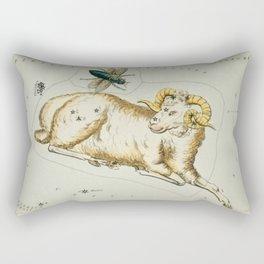 Aries Constellation Map Rectangular Pillow