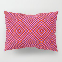 Interference Grid Red - Optical Series 013 Pillow Sham