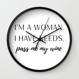 Woman with Needs Wall Clock