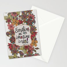 Everything you can imagine is real Stationery Cards