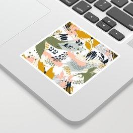 Abstract strokes still life Sticker