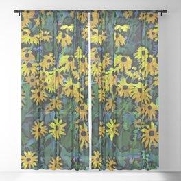 Black-Eyed Susans Sheer Curtain