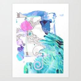 Peacock Flow Art Print