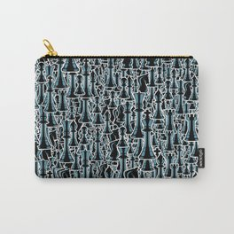 Chess Pattern II BLACK Carry-All Pouch