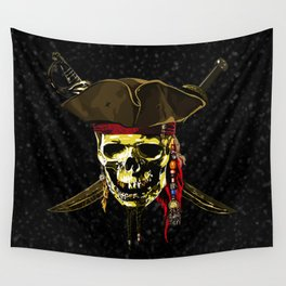 The Dark Eyes Of Pirates Wall Tapestry