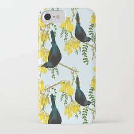 Tuis in the Kowhai Flowers iPhone Case