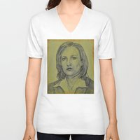 dana scully V-neck T-shirts featuring Scully by Jenn