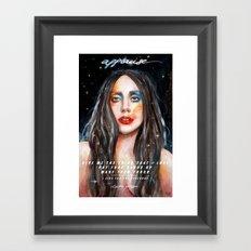I Live For The Applause Framed Art Print
