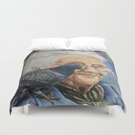Pigeon Lady Duvet Cover