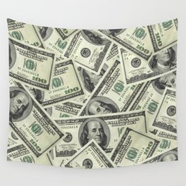 Time is Money Wall Tapestry