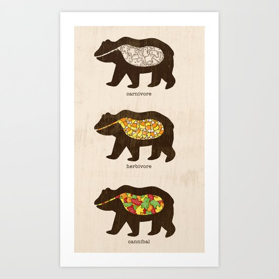 The Eating Habits of Bears Art Print