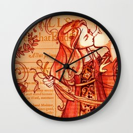 Alls Well That Ends Well - Romantic Shakespeare Folio Illustration Wall Clock