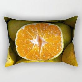Half tangerine. The new fruit of sin. Rectangular Pillow