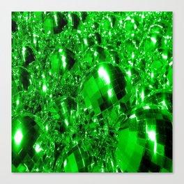 Green Ornaments Canvas Print