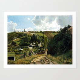Camille Pissarro Jalais Hill, Pontoise Art Print