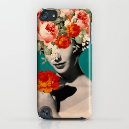 WOMAN WITH FLOWERS iPhone Case