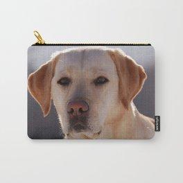Portrait of A Golden Labrador Retriever Carry-All Pouch