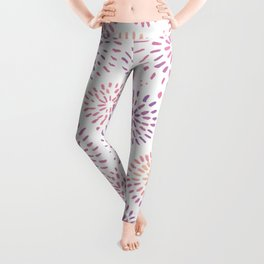 Abstract watercolor sparkles – pastel pink and ultra violet Leggings
