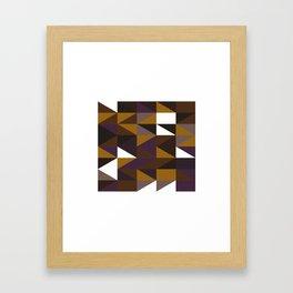 #508 Aztec revival – Geometry Daily Framed Art Print