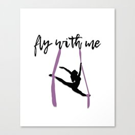 """""""Fly with Me"""" Aerialist Canvas Print"""