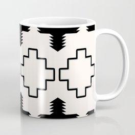 Rustic Native Indian black and white pattern Coffee Mug