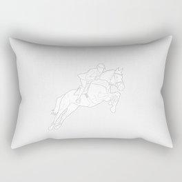 Showjumper in Grey Rectangular Pillow