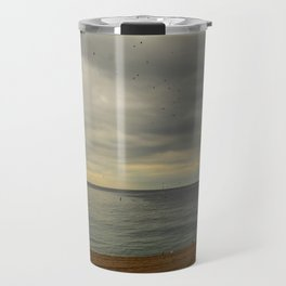 Barcelona beach Travel Mug