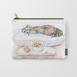 Sleeping Raccoon Carry-All Pouch