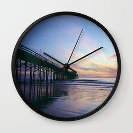 Newport Beach Pier Wall Clock