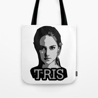 divergent Tote Bags featuring Divergent: Tris by Flash Goat Industries