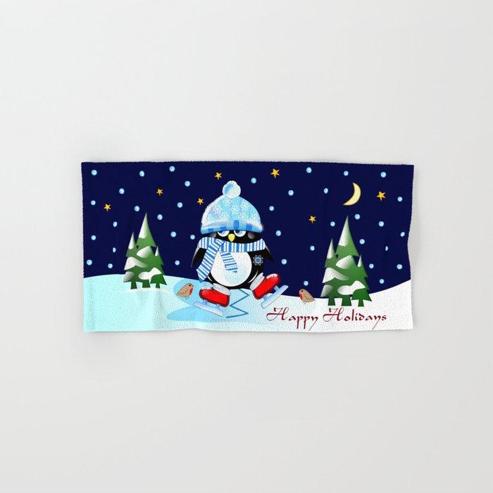 The skating penguin Hand & Bath Towel