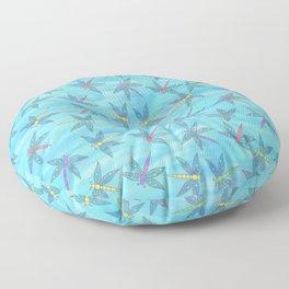 Sweet Dragonfly Skies Floor Pillow
