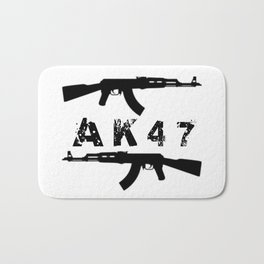 AK47 Rifles Bath Mat