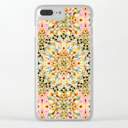 Pink Carousel Mandalas Clear iPhone Case