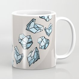 Blue Gems, Raw Stones, Diamond Chunks Coffee Mug