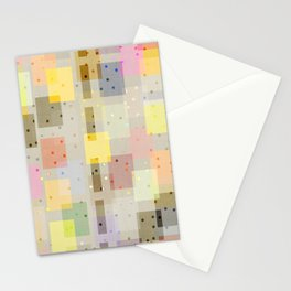 COLORFUL COLOR BLOCK LINEN #3 Stationery Cards