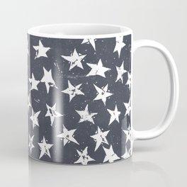 Linocut Stars - Navy & White Coffee Mug