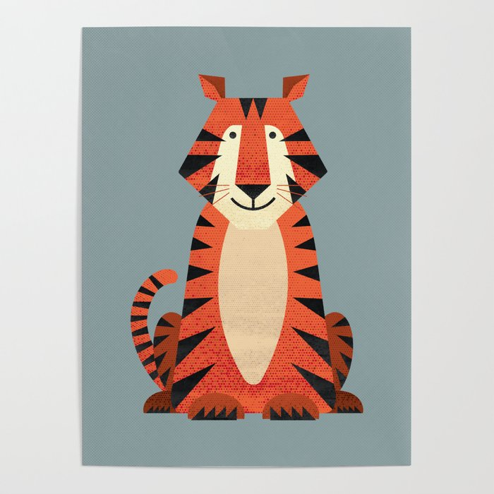 Whimsy Tiger Poster